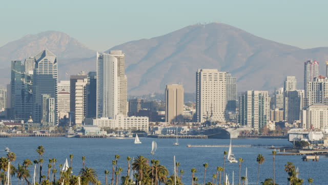 downtown san diego - aircraft carrier stock videos & royalty-free footage