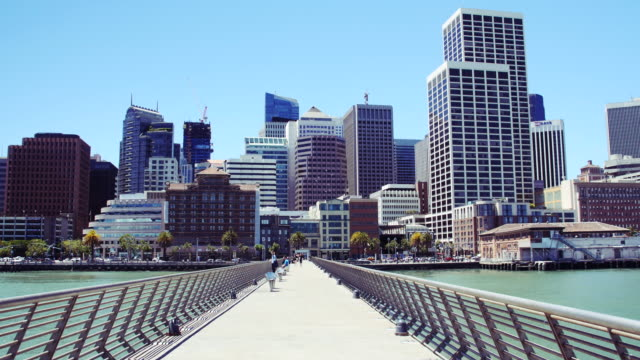 downtown san francisco city scenic - pier stock-videos und b-roll-filmmaterial