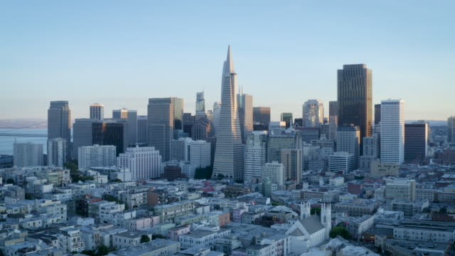 downtown san francisco - coit tower stock videos & royalty-free footage