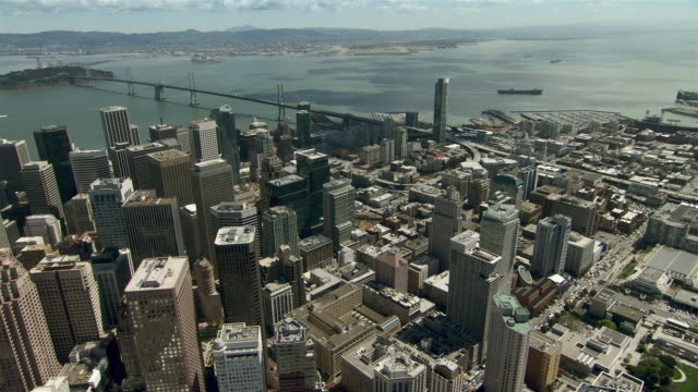 Downtown San Francisco with the Oakland Bay Bridge.