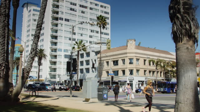 Downtown Santa Monica Street Scene
