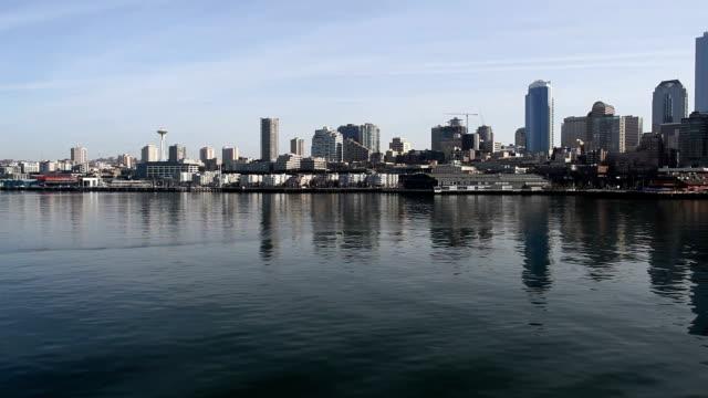 downtown seattle - elliott bay stock videos & royalty-free footage