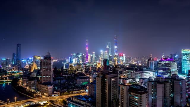 T/L WS HA ZI Downtown Shanghai at Night / Shanghai, China