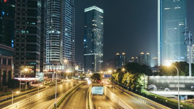 T/L PAN Downtown Shanghai at Night / Shanghai, China