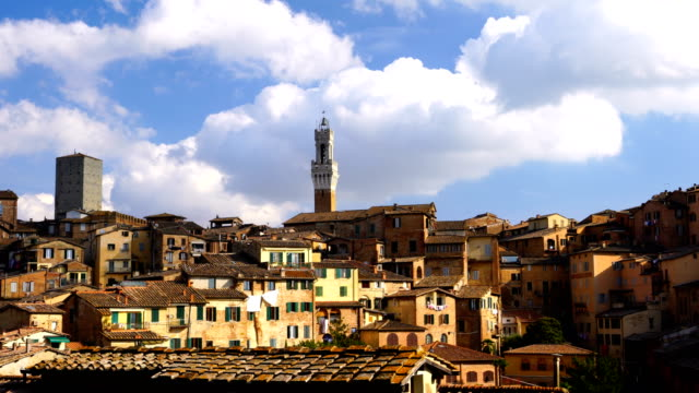 downtown siena skyline in italy - siena italy stock videos and b-roll footage