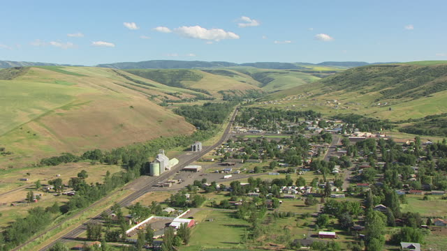 WS AERIAL Downtown / Spalding, Idaho, United States