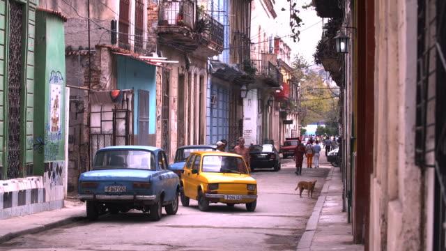 downtown street in havana, cuba