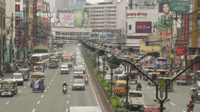 Downtown street in Manila Philippines