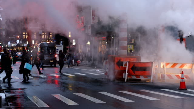 Downtown Street Steam Vent