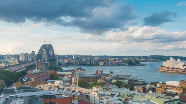 downtown sydney skyline in australia from top view - north stock videos & royalty-free footage