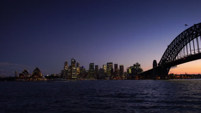 downtown sydney skyline in australia - panoramic stock videos & royalty-free footage