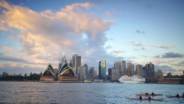 downtown sydney skyline in australia - sydney stock videos & royalty-free footage