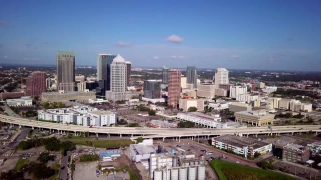 downtown tampa florida over highway - tampa stock videos & royalty-free footage