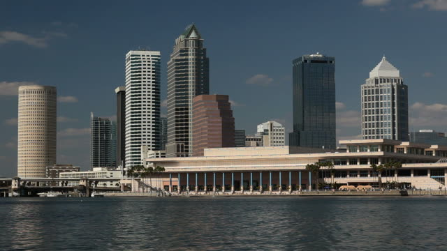 downtown tampa - tampa convention center stock videos & royalty-free footage