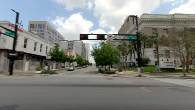 downtown tampa xviii synced series right view driving process plate - tampa stock videos & royalty-free footage