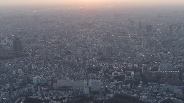 AERIAL, Downtown Tokyo In The Evening, Japan