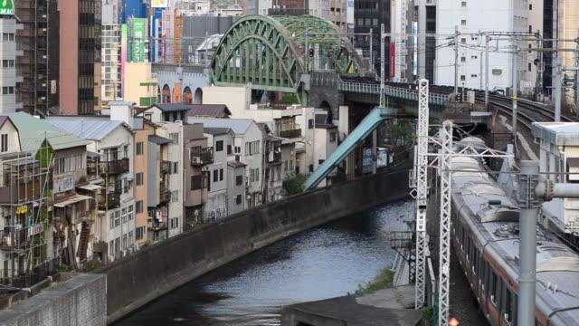 downtown tokyo - 線路のポイント点の映像素材/bロール
