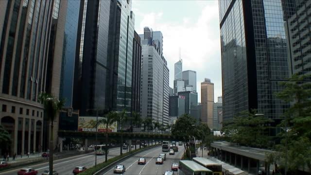 stockvideo's en b-roll-footage met ws ha downtown traffic, hong kong, china - hong kong
