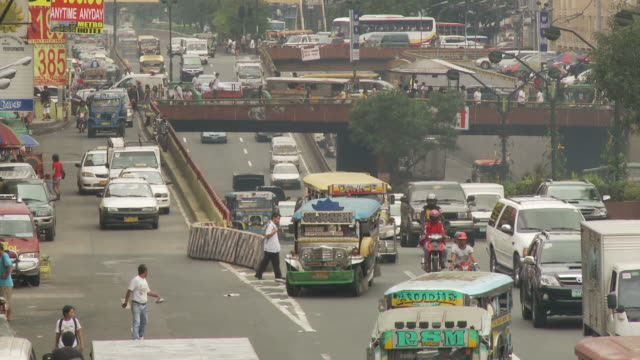 Downtown traffic in Manila Philippines