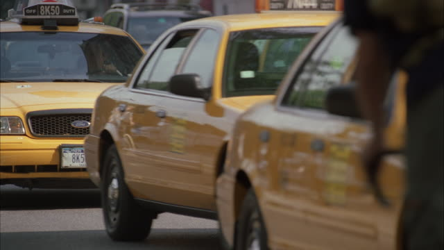 ms downtown traffic / new york city, new york, usa - yellow taxi stock videos & royalty-free footage