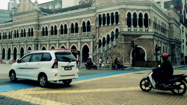 Innenstadt von Verkehr Straße Gehweg in Malaysia Kuala lumpur