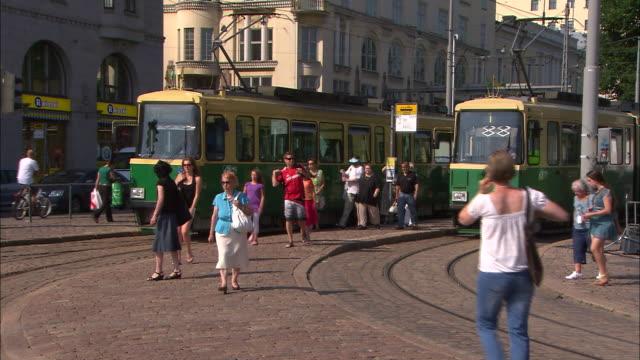 Downtown Trams, Helsinki, Finland