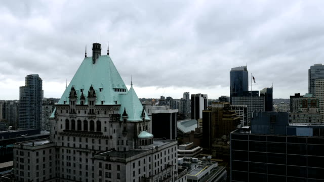 downtown vancouver time lapse during daytime - hotel stock videos & royalty-free footage