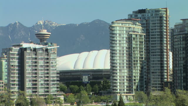 WS Downtown Vancouver with BC Place Stadium, Vancouver, British Columbia, Canada