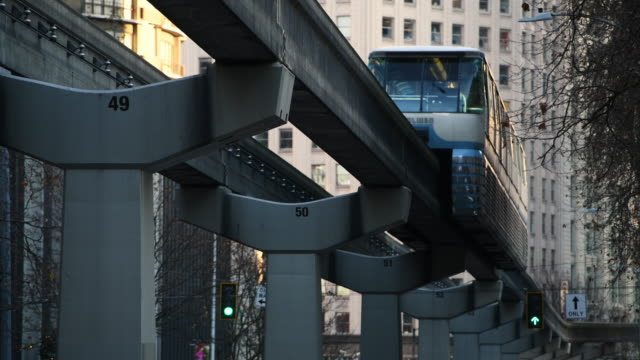 downtown - monorail stock videos & royalty-free footage