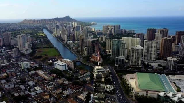 downtown waikiki, hawaii - honolulu stock videos and b-roll footage