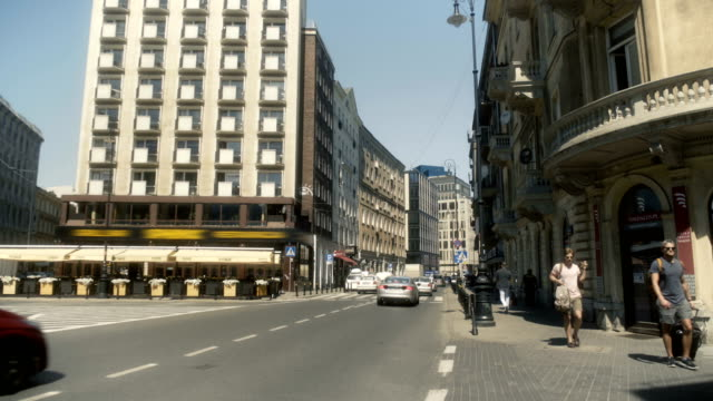 downtown warsaw poland - warsaw stock videos & royalty-free footage