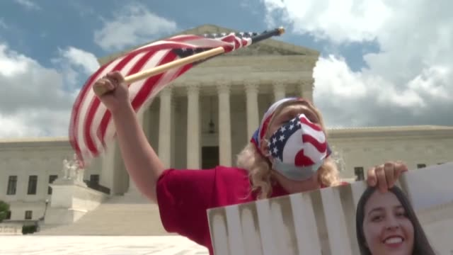 dozen of pro-immigration activists gather outside the us supreme court after it rejected us president donald trump's cancellation of the daca... - dozen stock videos & royalty-free footage