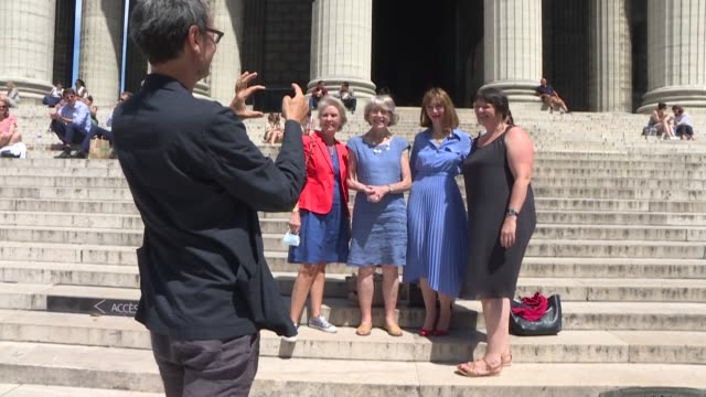dozen women attend mass in homage to mary magdalene at the church of the madeleine in paris, after symbolically submitting their candidacies for... - dozen stock videos & royalty-free footage