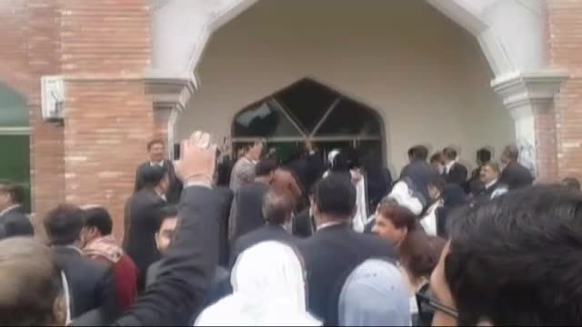 dozens of pakistani lawyers on december 13 2017 go on rampage vandalizing a newlyconstructed judicial complex in the central city of multan in... - multan stock videos and b-roll footage