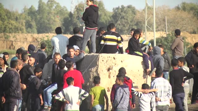 dozens of palestinians were injured in friday clashes with israeli forces in the occupied west bank and in the blockaded gaza strip, according to a... - us state border stock videos & royalty-free footage