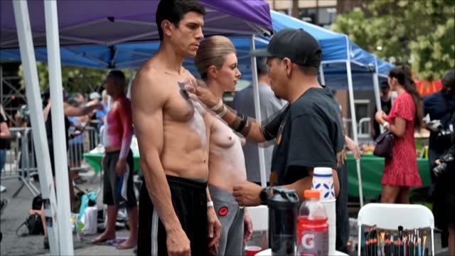 NY: New York City marks 8th annual 'Bodypainting Day'