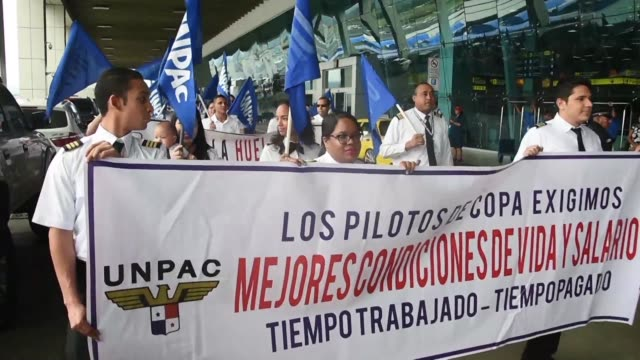 Dozens of pilots with Panama's main carrier Copa Airlines protested outside Panama City's international airport on Thursday in an intensifying...