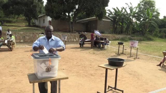 dozens of polling stations in uganda are forced to open for a second day after the late delivery of ballot boxes and voting papers prevented many... - kampala stock videos & royalty-free footage
