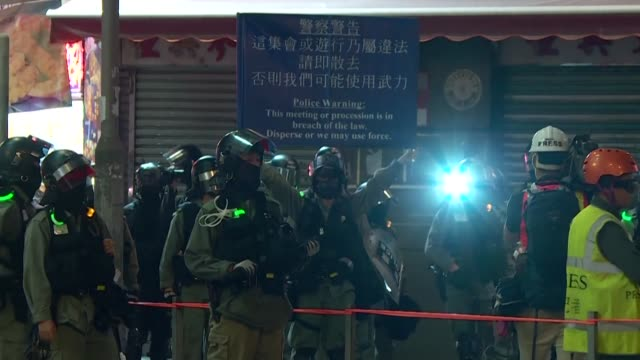 dozens of protesters gathered inside a mall in hong kong to commemorate four months since the so called yuen long attack where a mob of a suspected... - protestor stock videos & royalty-free footage