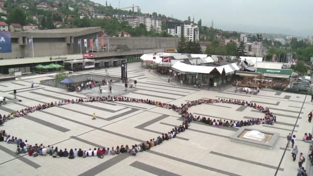 dozens of young people from different communities across bosnia communities that fought against one another during the 1990s perform in a show in... - michelangelo artist stock videos & royalty-free footage