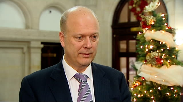 Chris Grayling interview ENGLAND London INT Chris Grayling MP interview SOT On why he asked for the pardon for Dr Alan Turing / it was a blight on...