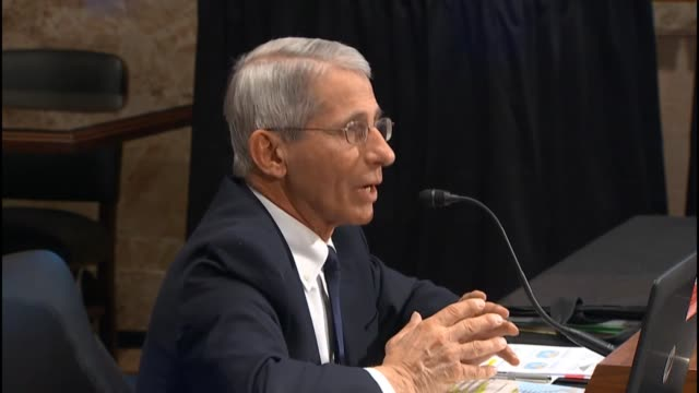 Dr Anthony Fauci Director of the National Institute of Allergy and Infectious Diseases describes response and research into Zika telling a Senate...