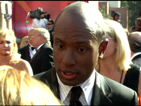 vídeos de stock, filmes e b-roll de dr anthony griffin of 'extreme makeover' at the 2004 primetime emmy awards arrival interviews at the shrine auditorium in los angeles california on... - primetime emmy awards