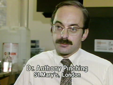 dr anthony pinching from st mary's hospital, talks about the potential threat of aids in the united kingdom. - aids stock videos & royalty-free footage