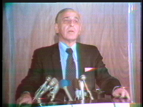 dr. charles hufnagel reports on the health of former us president richard nixon. - former stock videos & royalty-free footage