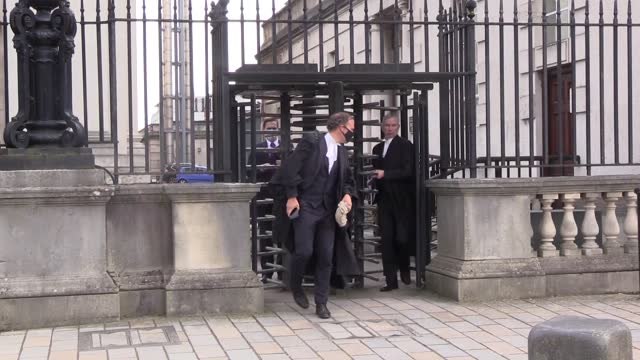 """dr christian jessen leaves court after he said that he did not want to cause northern ireland's first minister arlene foster """"any distress"""" when he... - doctor stock videos & royalty-free footage"""