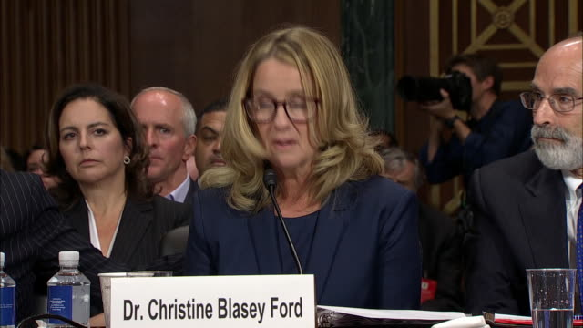 dr. christine blasey ford describes to senator patrick leahy the òuproarious laughteró she remembers from her attack in 1982. this took place during... - testimony stock videos & royalty-free footage