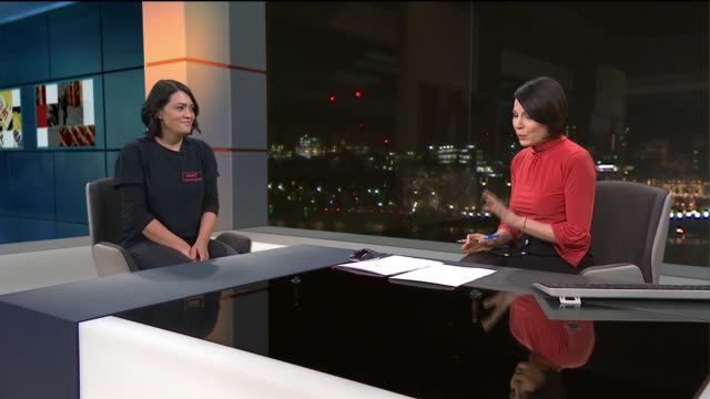 dr claire gray returns to uk after working with rohingya refugees in bangladesh england london gir int dr claire gray live studio interview sot - rohingya culture stock videos and b-roll footage