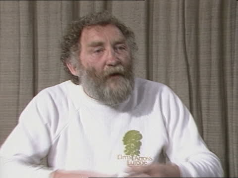 """dr david bellamy interview:; england: lap: int cms dr david bellamy intvw sof - """"not really, i went with -- maintained itself wet enough."""" - itv news at one stock videos & royalty-free footage"""