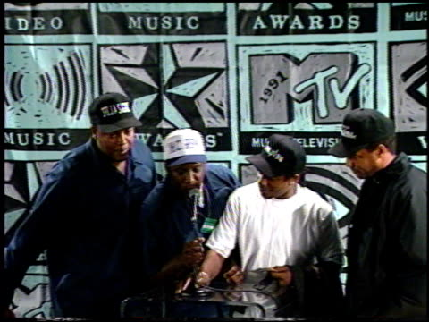 dr dre at the 1991 mtv awards at universal amphitheatre in universal city, california on january 1, 1991. - 1991 stock videos & royalty-free footage